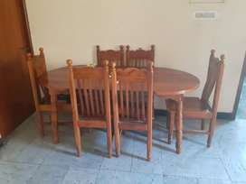 Teak wood dining table
