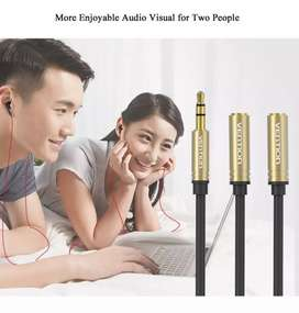 Vention kabel 3.5 mm ( 1 male to 2 Female )