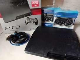 PS3 slim 320GB lengkap joss