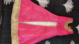 Pink and white girls gown