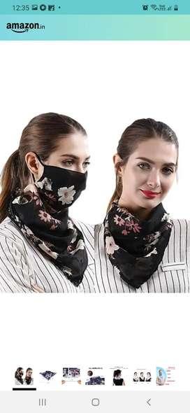 Stylish scarf with mask