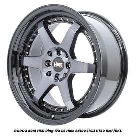 stock terbaru hsr wheel type Borgo ring 17 bmf/bk
