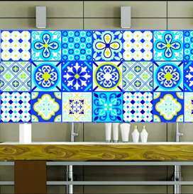 Wall Stickers or Tile Stickers for home decorater 4.4 12pcs