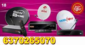 AIRTEL ! VIDEOCON D2H ! DTH CONNECTION ! TATA SKY,  DISH TV