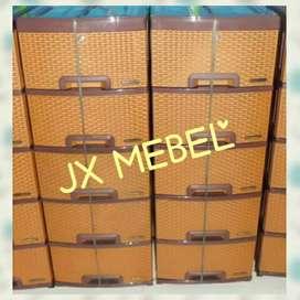 JX MEBEL Laci Rak Plastik Rotan Pekanbaru