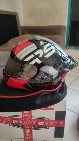 Helm RSV FF500, Motif Mchine + Spoiler 3D Pemakian 1 Minggu