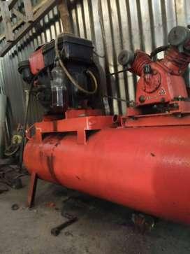 Kompresor diesel dan alat tambal ban