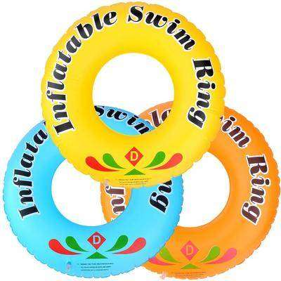 Swimming Floats Printing Inflatable Swimming Ring Pool with Air Pump F
