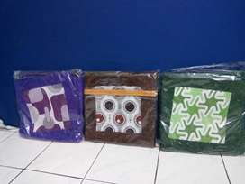 Set 5 Pcs Sarung Cover Bantal Sofa Kursi Tamu & Taplak Meja, Bisa COD