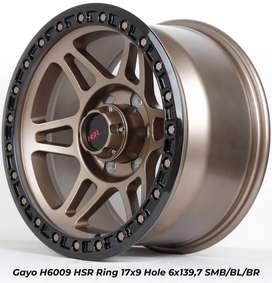 Velg model GAYO H6009 HSR R17X9 H6X139,7 ET0 SMBRZ/BL