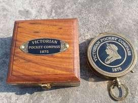 Victoria Brass Compass 1875 Antique