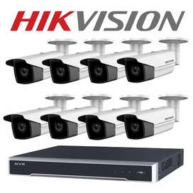 8 Cctv Came Setup. Hd Result nightvision, Waterproof, 1 Year Warranty