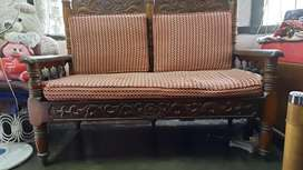 Wooden 4 Seater Sofa Set in Good Condition
