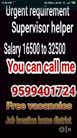 Limited company urgent requirement supervisor store keeper
