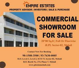 Commercial Showroom 20*80 Sq.ft For Sale on Airport Road Mohali