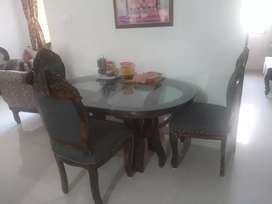 Want to sell Four chair rajwadi dining table