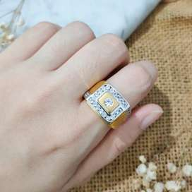 Ring Jewellery Fashion Zirkon Gold Cincin Emas asli etnik