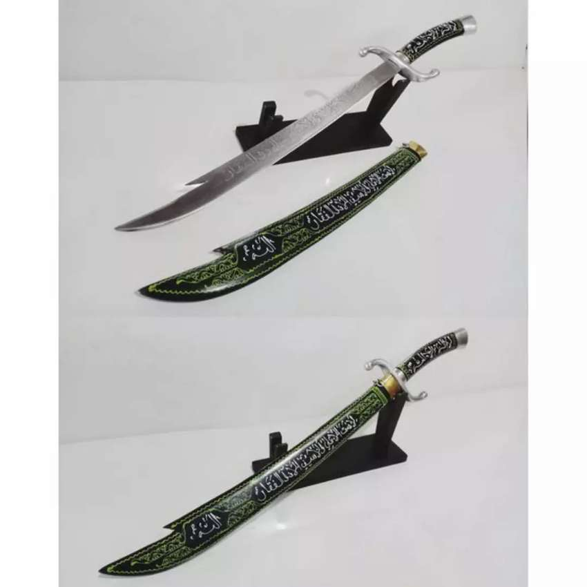 Pedang Arab Zulfikar Kaligrafi Tajam dan Murah