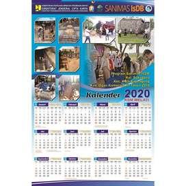 Kalender murah gratis desain isi 1 lembar