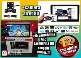Mumer Head unit 2din SANSUI JAPAN androidlink 7inc full hd+camera hd