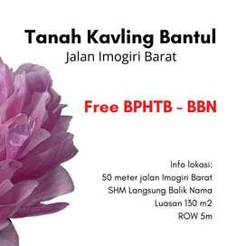Gratis Balik Nama Kavling 2Jt'an/m SHM Pekarangan Di Sewon Bantul