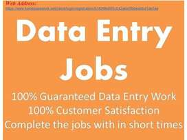 Form Filling /Simple Typing/ Data entry jobs - Part Time / Full Time j