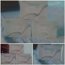 Platinum gold soap made by ALM international company