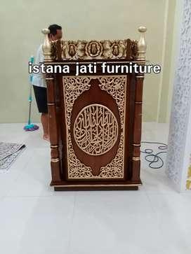 Podium Mimbar masjid ceramah khutbah masjid