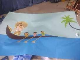 9 feet x 5 feet Onam background drawing Rs.500