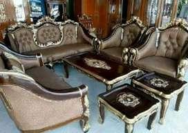 Sofa mewah ukir kayu jati solid