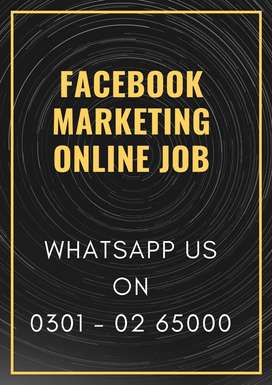 Earn student from face book marketing job /daily & weekly payout