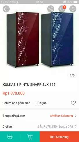 Dijual kulkas SHARP 1 PINTU
