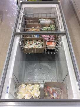 Voltas glass top deep freezer 405 L