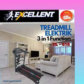 treadmill elektrik TL-618 G-31 alat olahraga lari