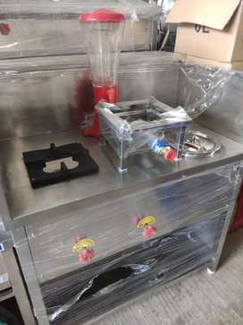 All types used kitchen equipment and new 2burner Stave and counter for