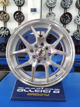 Velg racing terbaru Agya R15 HSR Hyura Boroko 02 Ring 15 Lebar 6,5