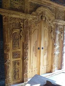 hati pintu gebyok gapuro jendela untuk rumah gedung masjid musholla