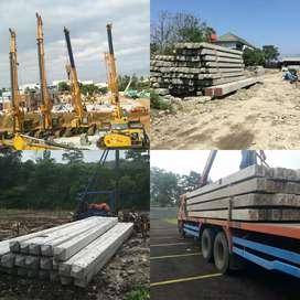 Tiang Pancang Beton K500, in Jack Hydraulic, Drop & Diesel Hammer