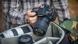 Dslr professional Camera for Rent Canon camera lens available