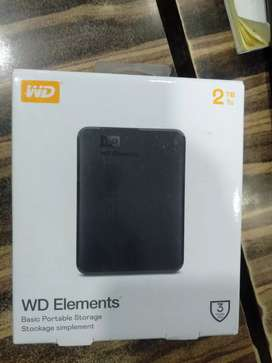 WD 2tb element external HDD 3 year warranty only 5200