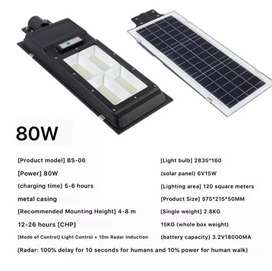 80w Solar Led Street Light with built in Battery