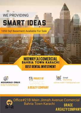 Bahria Midway A side basement rate 9000 sq. Feet demand.