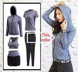 1set Pakaian Senam/Gym Wanita Impor M-XXXL