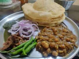 Homemade delicious vada, misal ,usal , and many traditional food