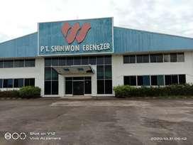 Dijual Bekas pabrik Garmen di Karawang Timur.