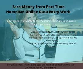 Earn Money from Part Time Homebase online Data Entry Work
