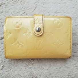 Dompet import eks LOUIS VUITTON pattern leather kuning ad no seri
