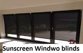 Window blinds thick fabric decent colors