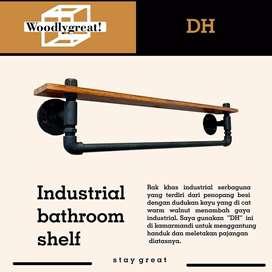 Indutrial bathroom shelf / Rak handuk industrial