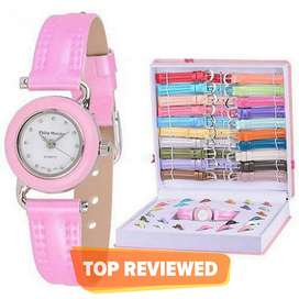 Interchangeable Watch Gift Set In Box For Girls - 20 Dial & Strap